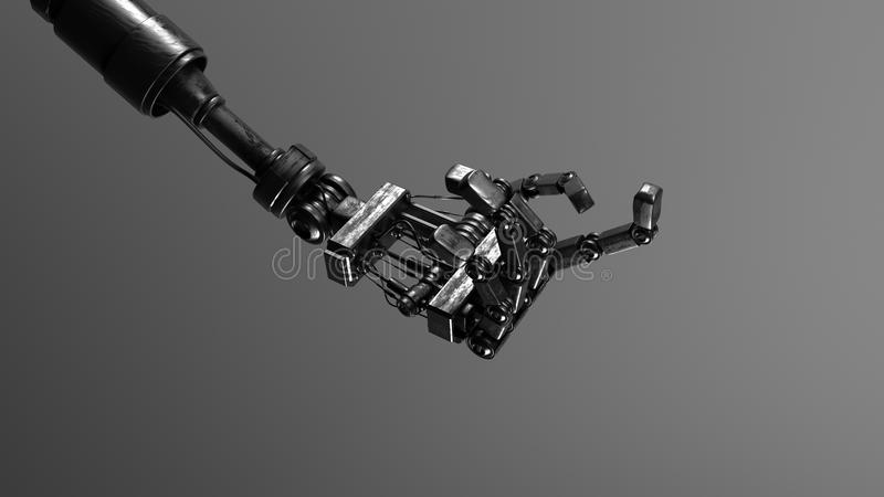 Download Metallic Cyber Hand Royalty Free Stock Images - Image: 10588109