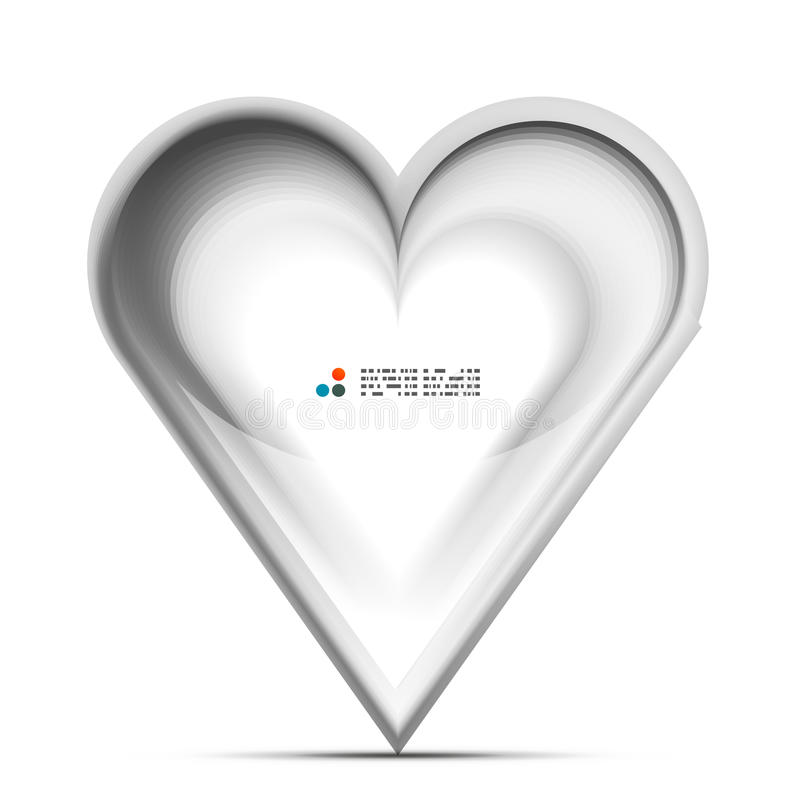 Metallic 3d vector heart love concept. This is file of EPS10 format stock image