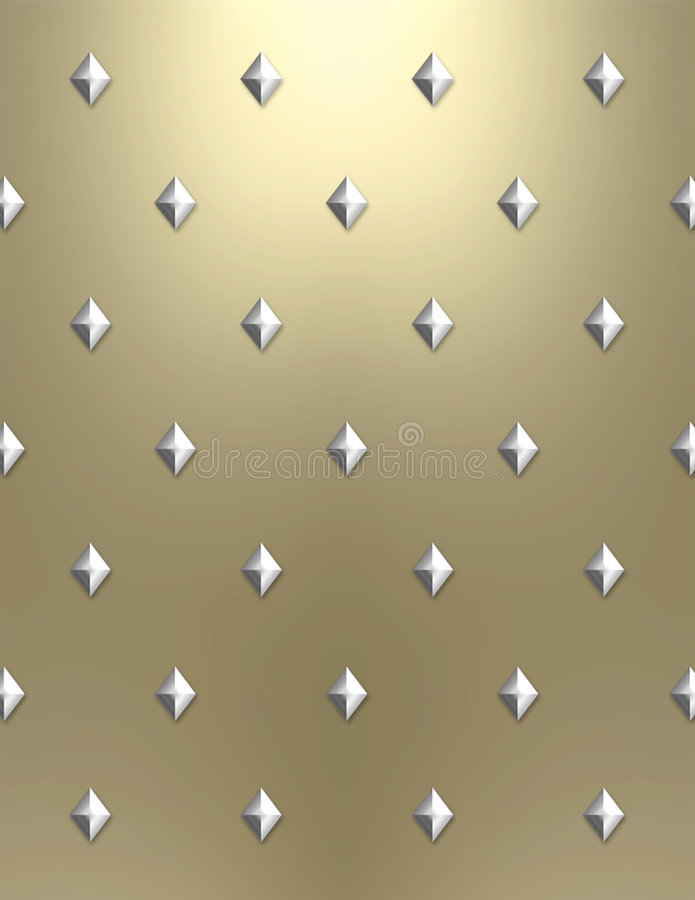 Metallic diamond background stock photo