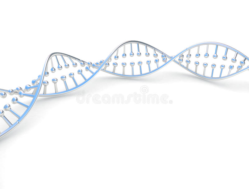 Metallic dna model royalty free stock photo