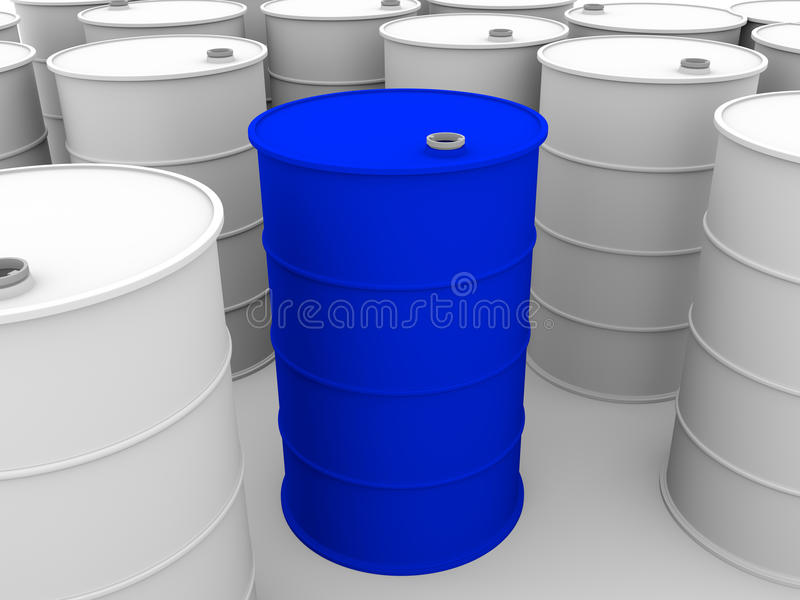 Download Metallic drums stock illustration. Image of chemical - 24049542