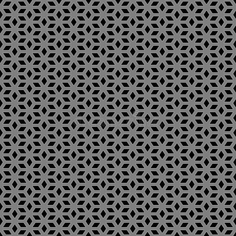 Metallic Escher Pattern Stock Photos