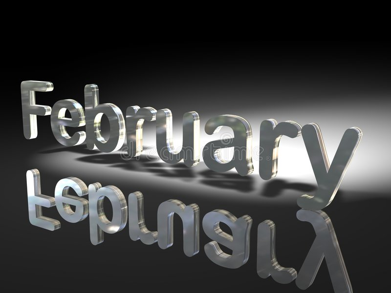 Metallic February Royalty Free Stock Images