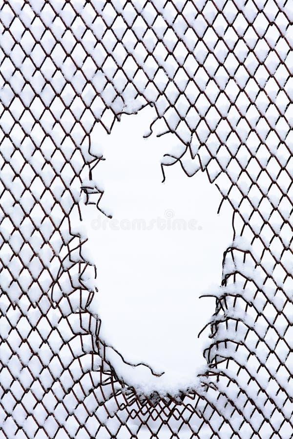 Metallic Fence With Hole Stock Image Image Of Black