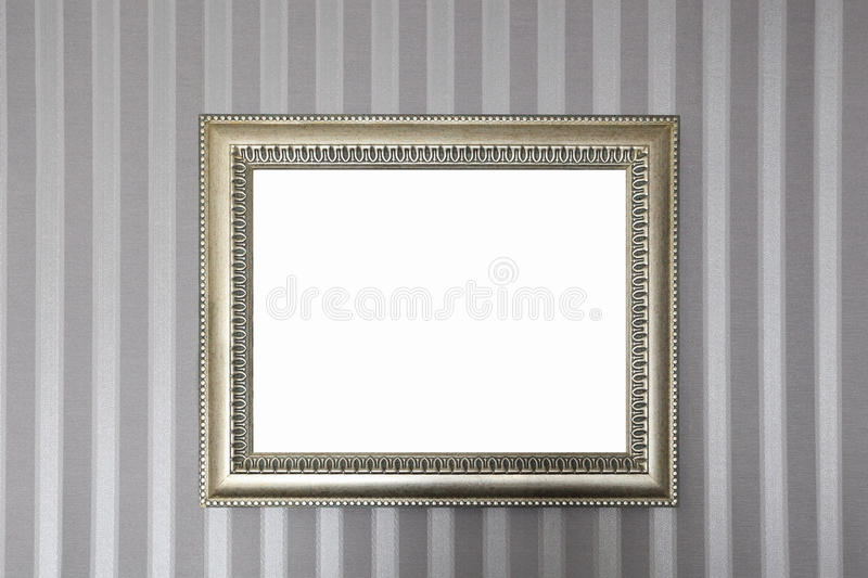 Download A Metallic Frame On The Wall Stock Image - Image: 24303125