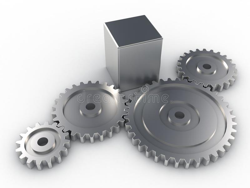 Metallic Gears vector illustration