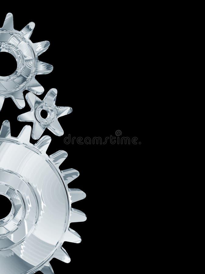 Metallic Gears Background royalty free illustration