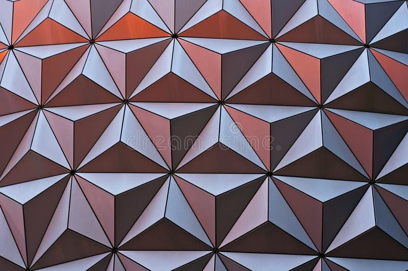 Metallic geometric surface stock image