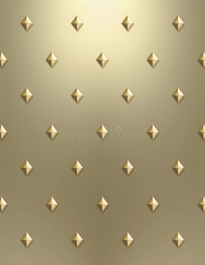 Metallic gold diamond background royalty free stock photos