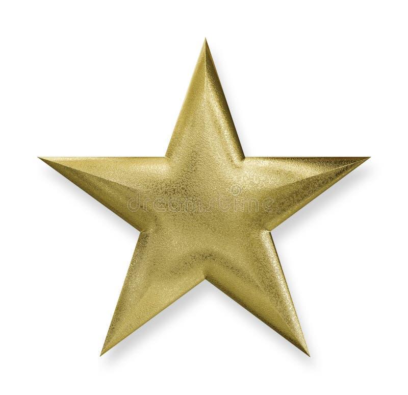Metallic Gold Star vector illustration