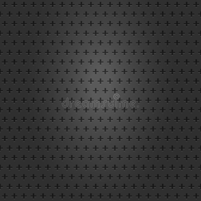 Metallic grill texture. Vector Illustration. Gray metallic grill texture background with cross holes stock illustration