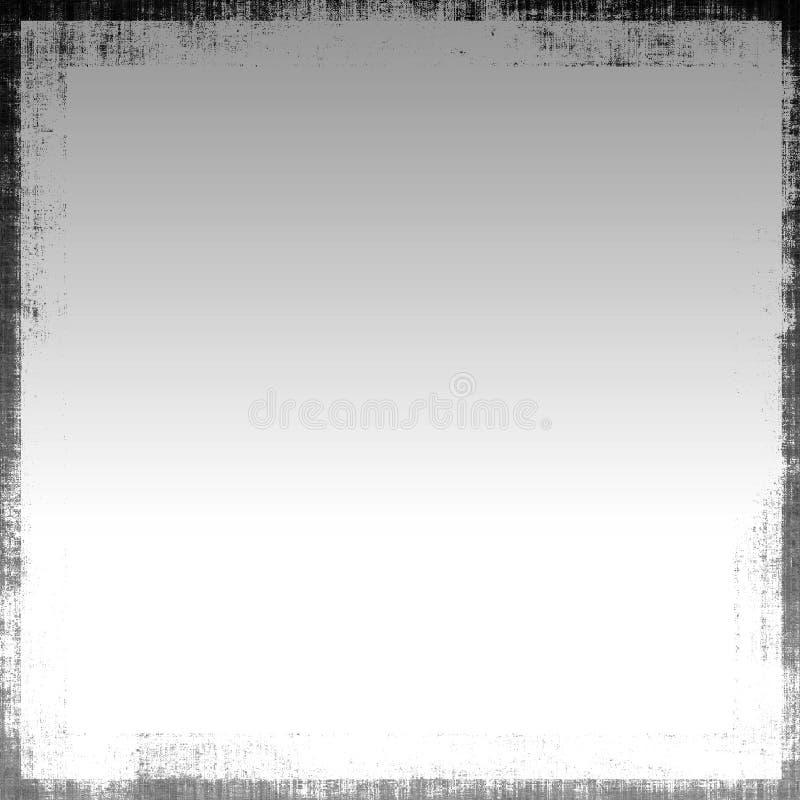 Metallic Grunge. Mix of smooth shiny metallic finish gradient with a rough grunge black border background royalty free illustration