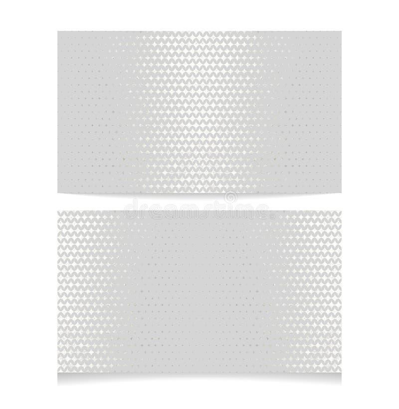 Metallic halftone business card royalty free illustration