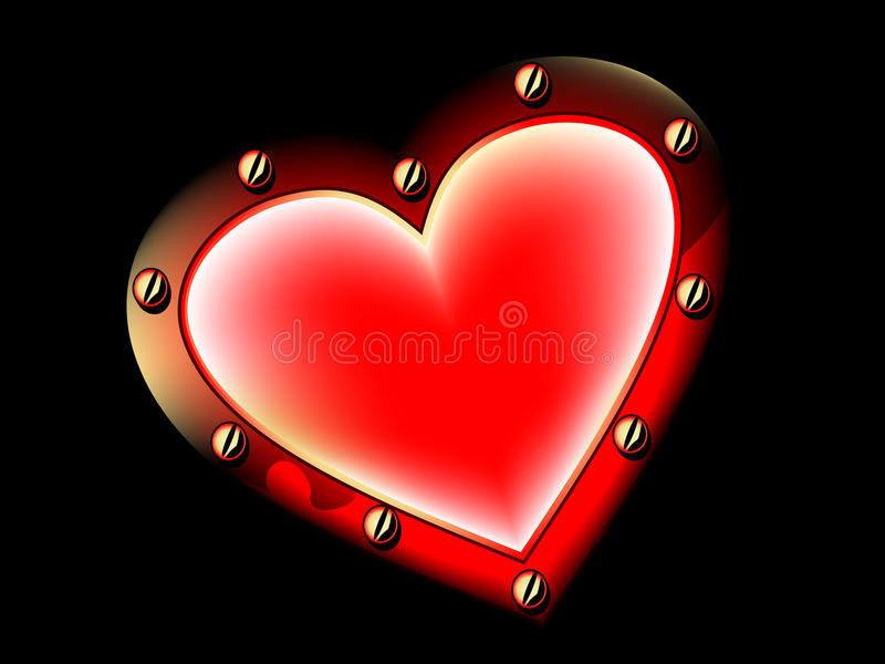 Metallic heart stock images