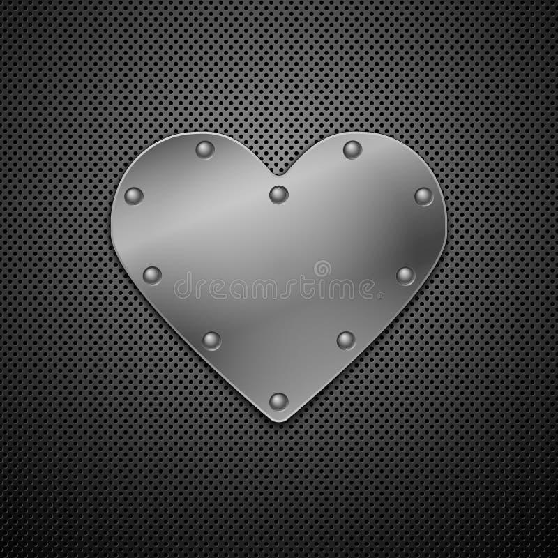 Download Metallic heart. stock vector. Image of protected, ironclad - 18817783