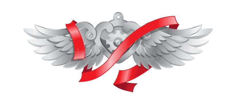 Metallic heart stock illustration