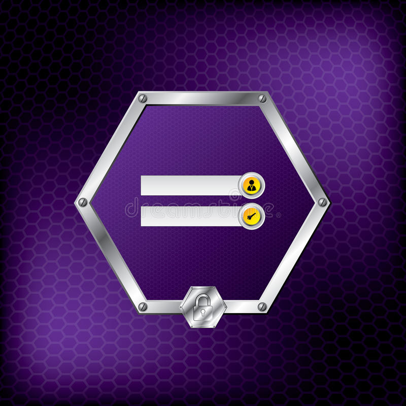 Download Metallic Hexagon Login Screen Stock Vector - Image: 26682163