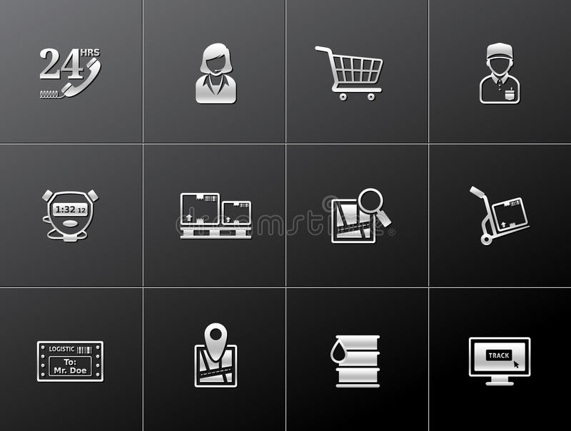 Download Metallic Icons - Logistic stock vector. Image of loading - 26617259