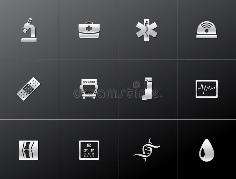 Metallic Icons - More Medical royalty free illustration