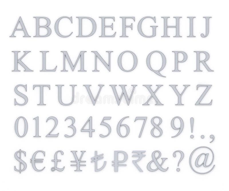 Metallic Letter Set stock images