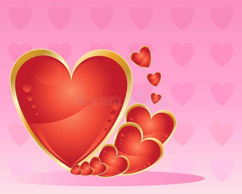 Metallic Love Heart Stock Photos