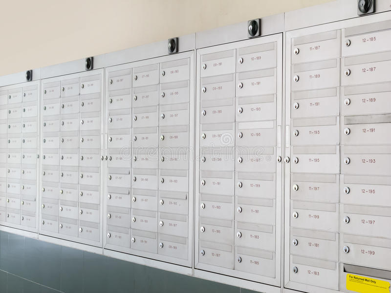 Download Metallic Mailboxes Royalty Free Stock Images - Image: 27691779