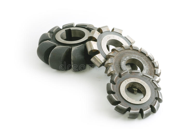 Metallic milling cutters stock images