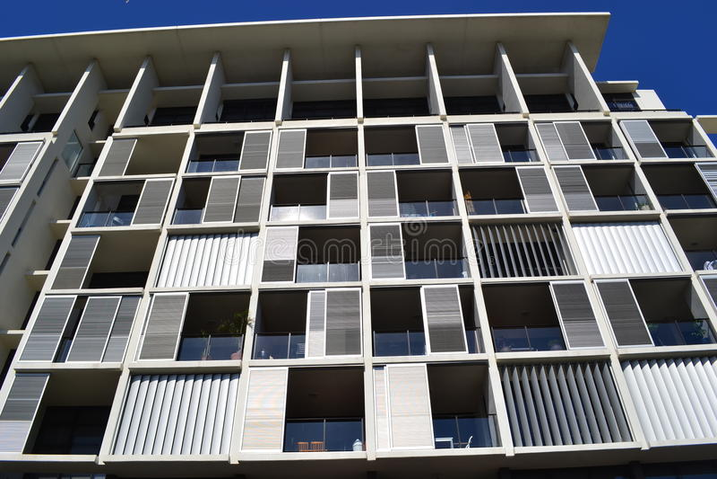 Metallic Modern Building Stock Photo