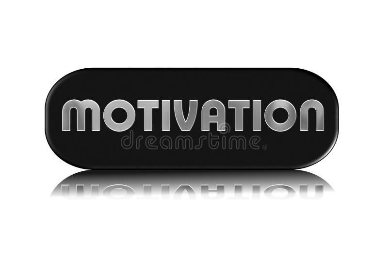 Metallic Motivation Sign Stock Photo