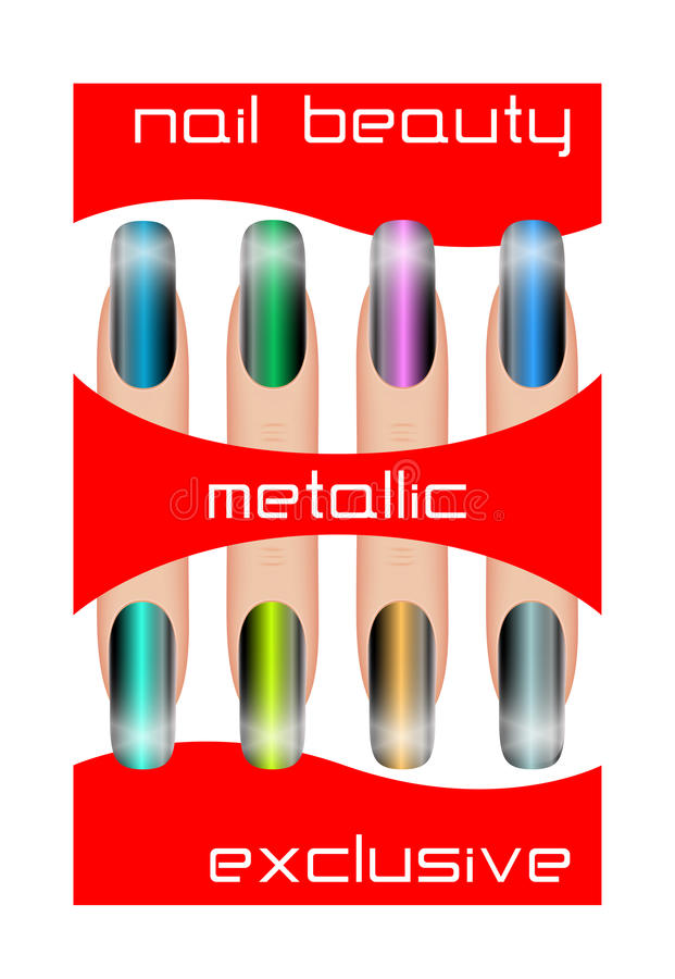 Metallic Nail Polish Stock Images