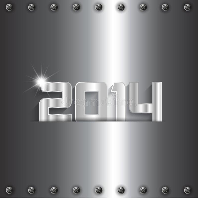 Metallic New Year background stock illustration