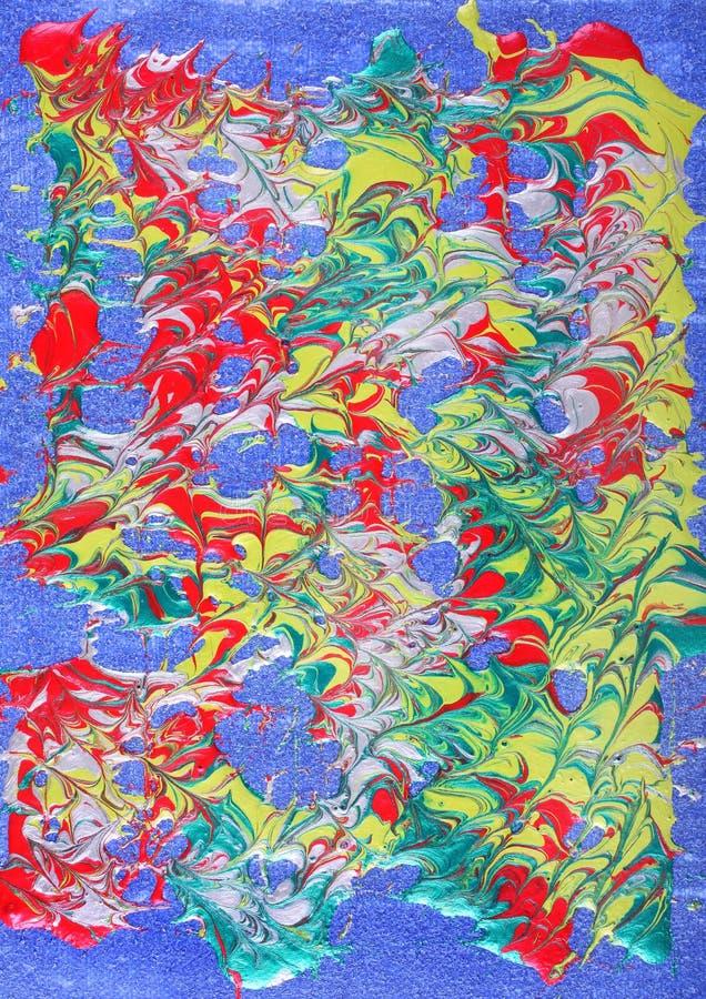 Metallic paint abstract stock photo