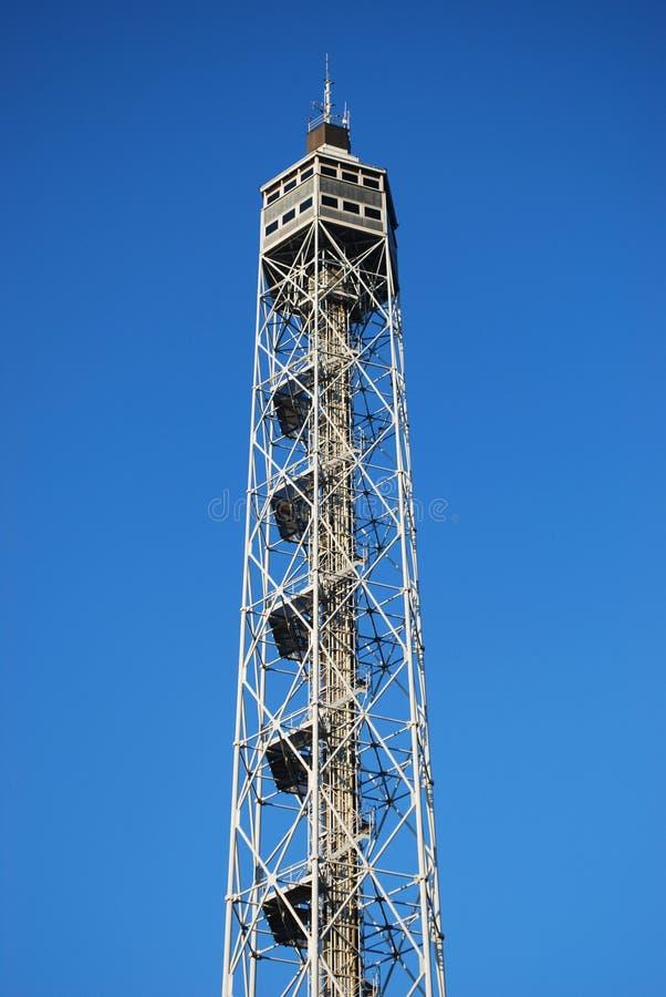 Metallic panoramic tower royalty free stock photo