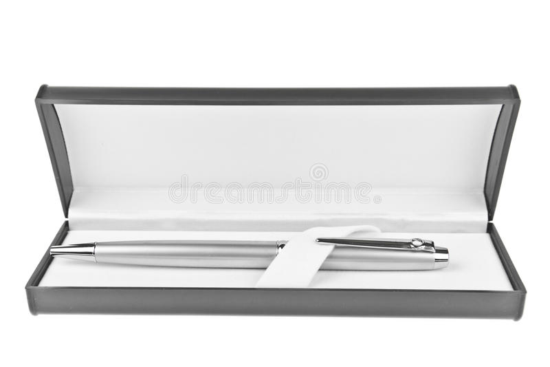 Download Metallic Pen In Box Royalty Free Stock Photos - Image: 22368608