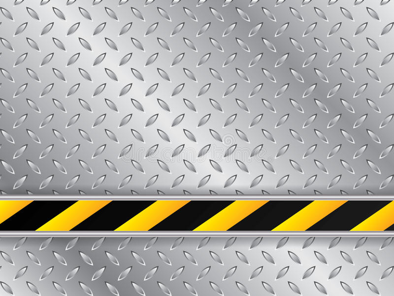 Metallic plate background with striped industrial line stock illustration