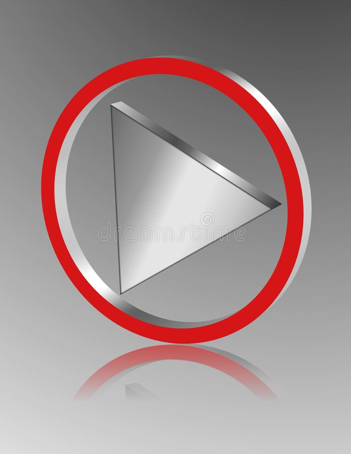 Download Metallic Play Icon Royalty Free Stock Photography - Image: 12267117