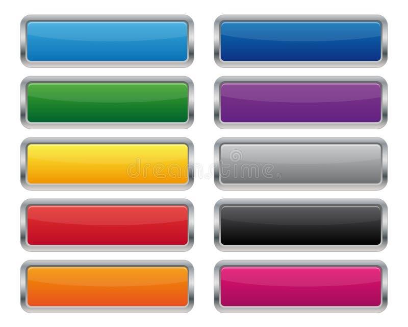 Metallic rectangular buttons royalty free illustration