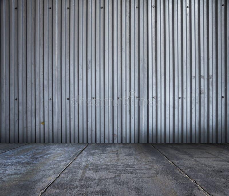 Metallic room background stock image