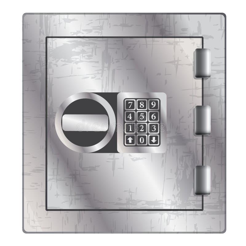 Metallic safe for storage of valuables. Vector illustration vector illustration