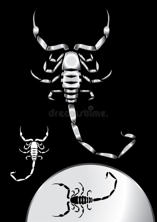 Download Metallic Scorpion stock vector. Illustration of sign - 14902999