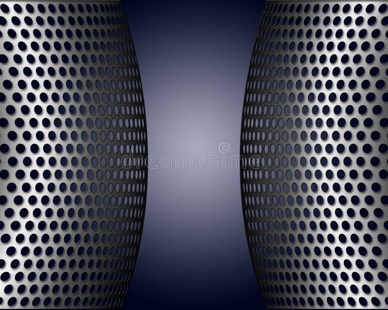 Metallic Screens With Holes stock illustration