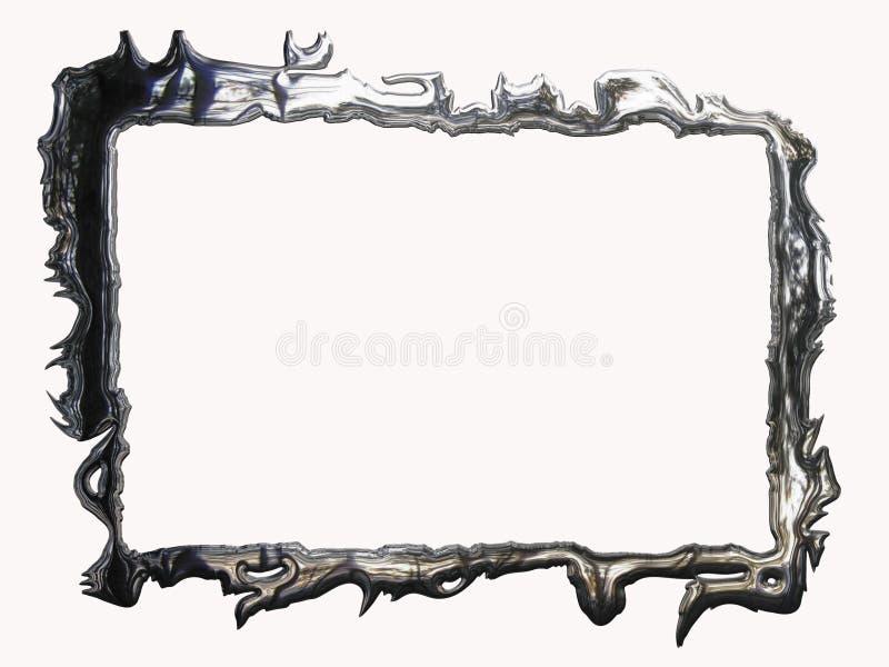 Metallic silver frame vector illustration