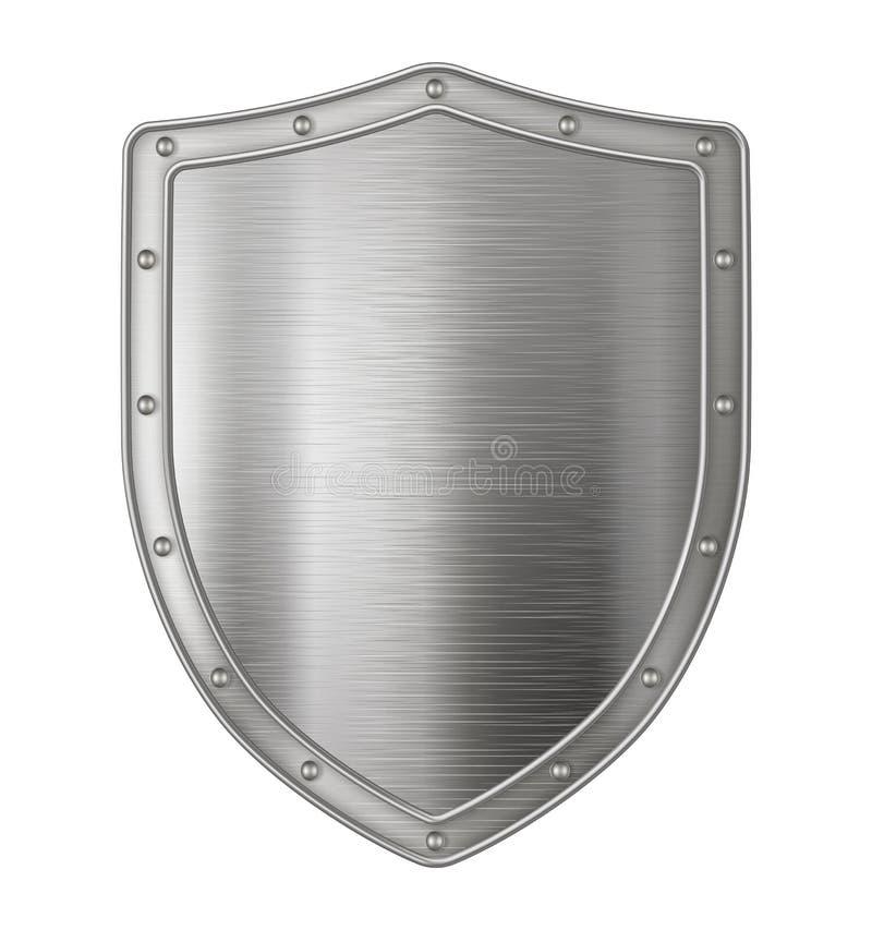 Free Metallic Silver Shield Stock Photography - 126016842
