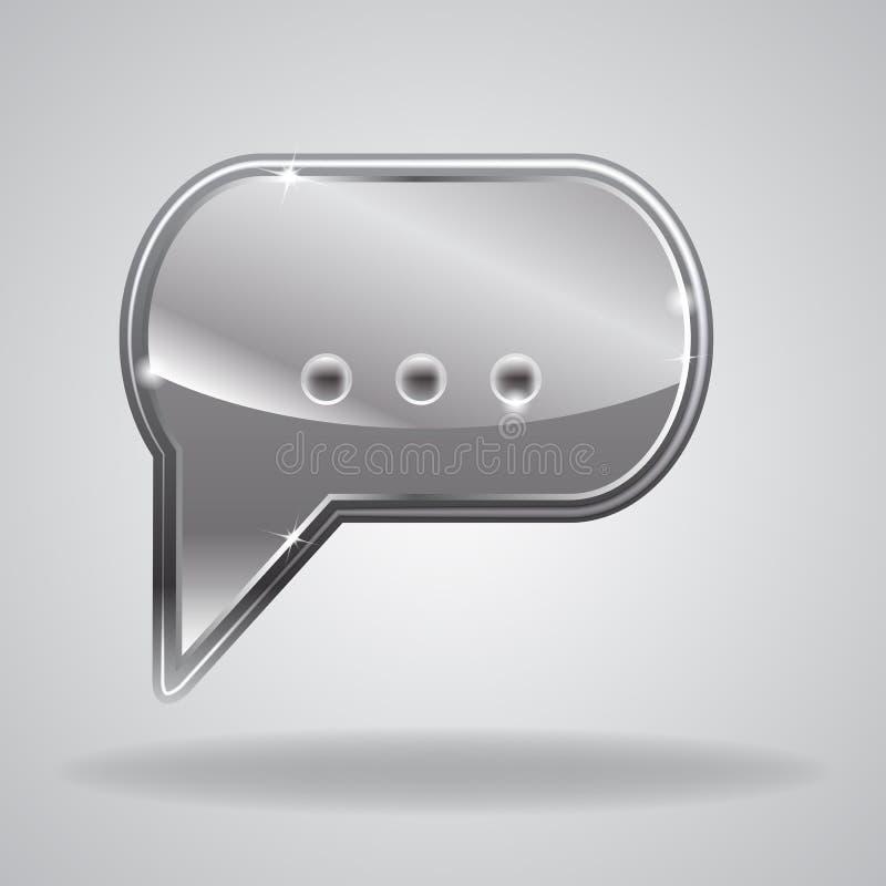 Metallic speech bubble stock illustration