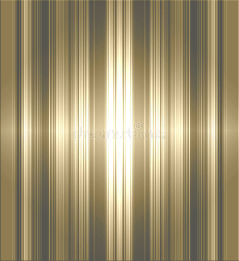 Metallic striped background. Golden brown tone metallic stripes background vector illustration