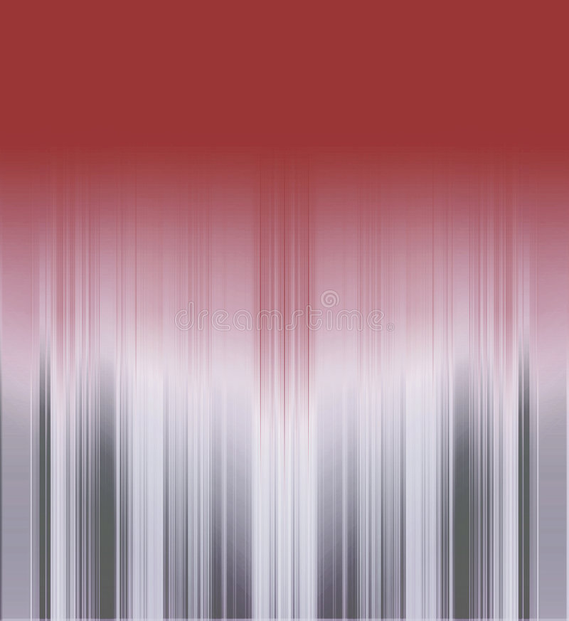 Metallic striped background. Gradient red to silver gray tones metallic stripes background stock illustration