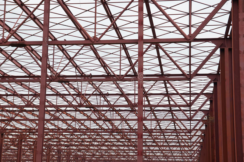 Metallic structure. Large metal structure repeating as a background stock photos