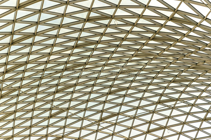 Metallic structure of roof royalty free stock image