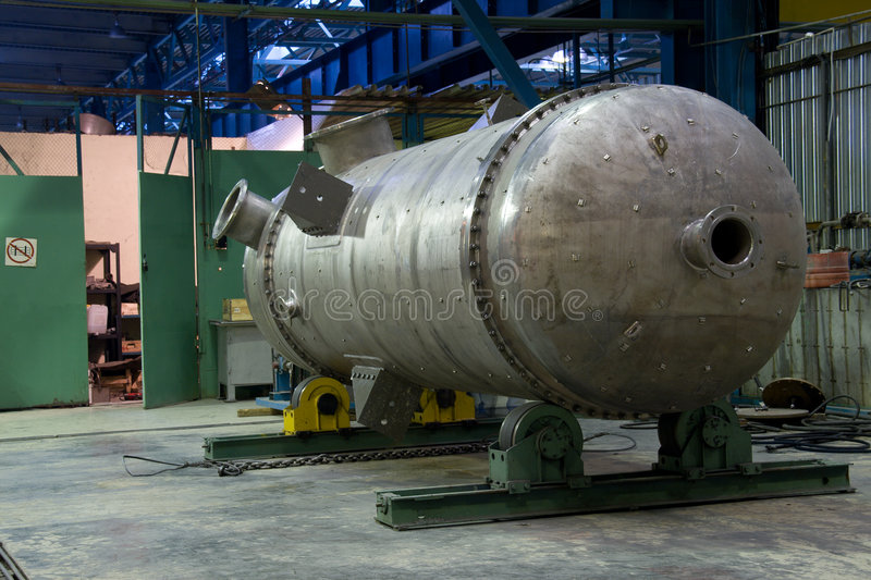 Download Metallic tank just made stock photo. Image of production - 6991068