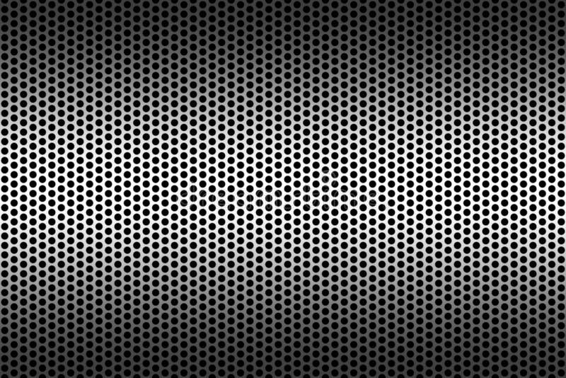 Metallic Texture with Holes stock illustration